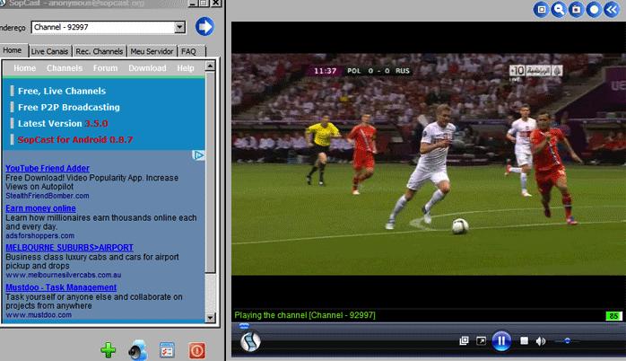 Sopcast смотреть футбол хоккей